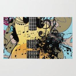 Grunge modern guitar Rug