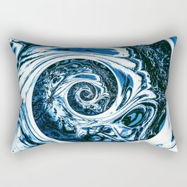 Yoga blue sacral for Kate Rectangular Pillow