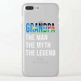 South Sudan Grandpa Legend Fathers Day Clear iPhone Case