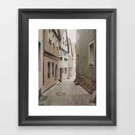 Italian Alley - Muted Tones Framed Art Print