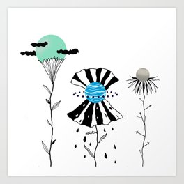 Flowers=planets Art Print