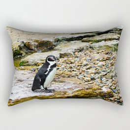 Penguin stare Rectangular Pillow