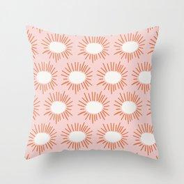 Bursting | Pink Throw Pillow