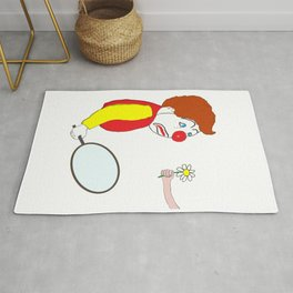 The Clown and the Flower Rug