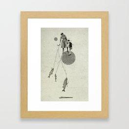 April   Collage Framed Art Print