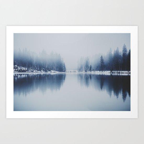 Foggy Winter Art Print