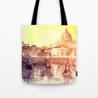 rome Tote Bags featuring Rome by takmaj