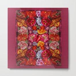 """Rose Huipil Embroidered"" Metal Print"