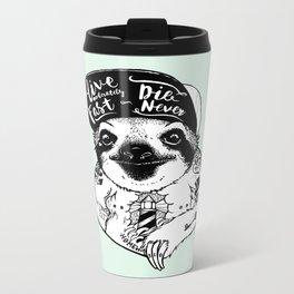 Sloth Tattooed Metal Travel Mug
