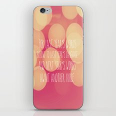 Last Years Words  iPhone & iPod Skin