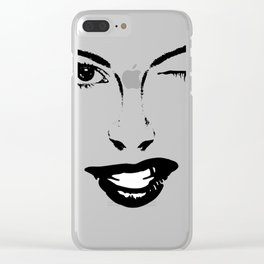 Boss Babe Face Outline Clear iPhone Case