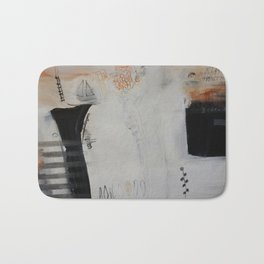 Black and white abstract Bath Mat