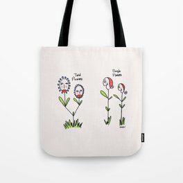 Twin Flowers Tote Bag