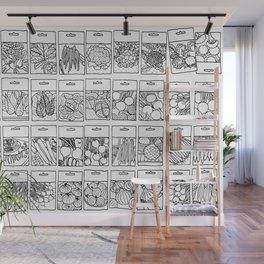 Veggie Seeds Patten - Line Art Wall Mural