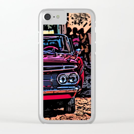 Old american car in Trinidad, Kuba Clear iPhone Case