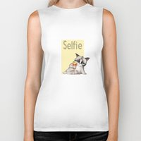 french fries Biker Tanks featuring Selfie with French Fries by stylishbunny