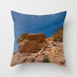 Petroglyphs 7236 - Newspaper Rock Throw Pillow