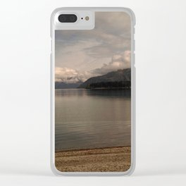 lake wanaka silent capture at sunset in new zealand Clear iPhone Case