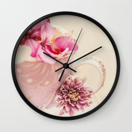 Flower storm in a teacup Wall Clock