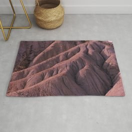 eroded mountainside Rug