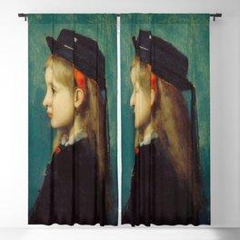 Jean-Jacques Henner - Alsatian Girl Blackout Curtain