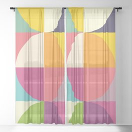 Quarters Quilt 4 Sheer Curtain