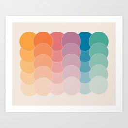 Boca Dots Art Print