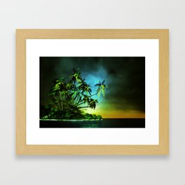 Tropical Islet Framed Art Print