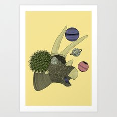 Playful Dinosaur Art Print