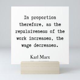 13    Karl Marx Quotes   190817 Mini Art Print