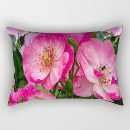 SPRING FUCHSIA PINK ROSES GARDEN ART PATTERN Rectangular Pillow