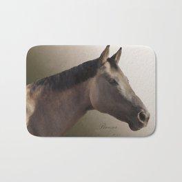 Celebrating Breezer; Horse Portrait Bath Mat