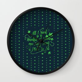 Weed-poetry Wall Clock