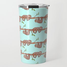 Lazy Baby Sloth Pattern Travel Mug