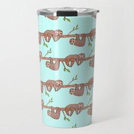 Lazy Baby Sloth Pattern Travel Mug