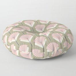 Mid-century Modern Radio Antenna Pattern /Rose Floor Pillow