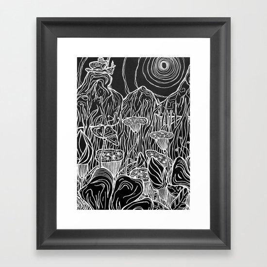 Linear Landscape Framed Art Print