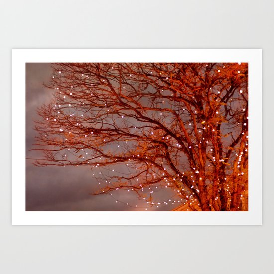 Magical In Red Art Print
