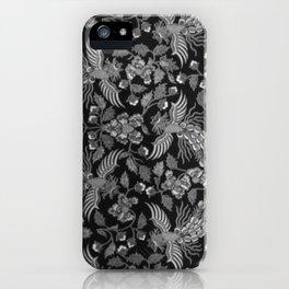 Indonesian Batik in Greyscale iPhone Case