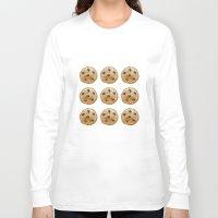 emoji Long Sleeve T-shirts featuring COOKIE EMOJI by FaniS