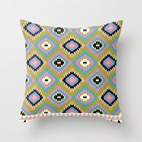 kilim Throw Pillows featuring Modern Kilim by Alisse Courter
