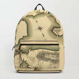 Map Of Boston 1818 Backpack