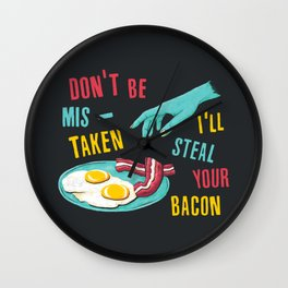 Bacon Thief Wall Clock