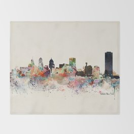 buffalo city new york Throw Blanket