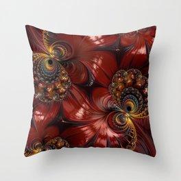 Bejewelled Crimson Throw Pillow