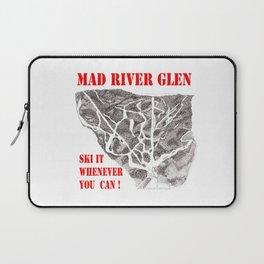 Mad River Glen Vermont, Ski Zentangle Illustration Laptop Sleeve