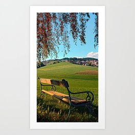 Bench under the tree | landscape photography Art Print