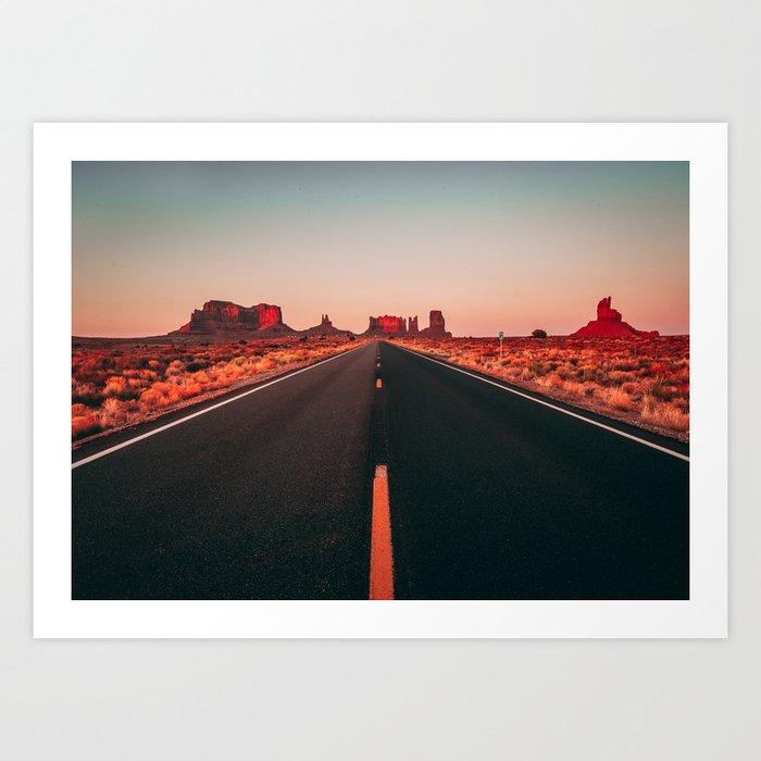 Lost highway Kunstdrucke