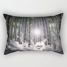 Arashiyama Bamboo in Winter Rectangular Pillow