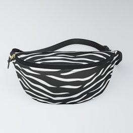 Black and White Jungle Big Cat Tiger Stripes Fanny Pack